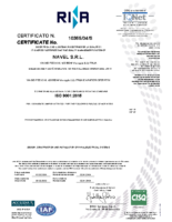 ISO 90001-2015 Certificate 2019